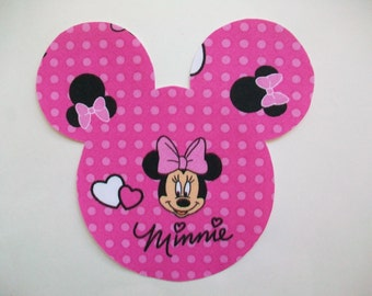 Minnie Mickey Mouse Applique - Iron On