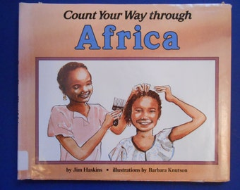 Count Your Way Through Africa, a Vintage Children's Counting Book