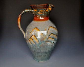 25% Off Seconds Large Ceramic Pitcher Pottery Flower Vase Handmade Stoneware A