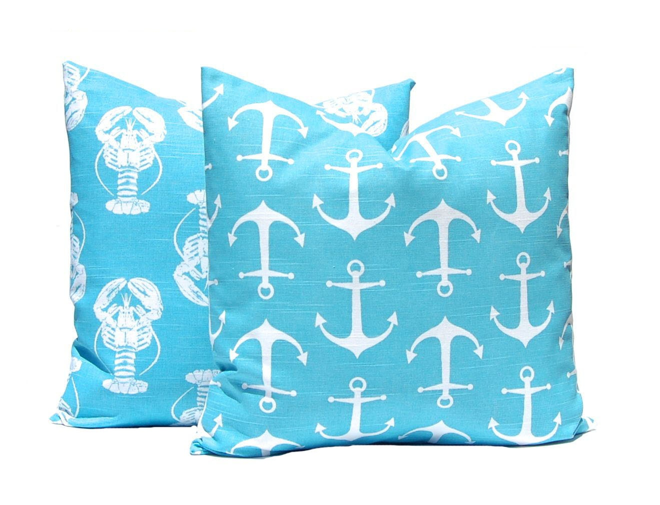 Turquoise Pillow Covers Decorative Pillow by CompanyTwentySix