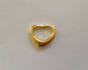 DESTASH - Gold heart charm, hearts, charms, gold