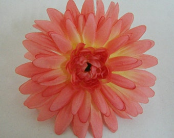 Gerbera flower Hair Clip 4.00 Inch. Pick color