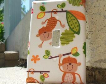Monkeys Light Switch Plate Cover Kid's Room, Kid's Playroom, Kid's Bathroom, Kid's Bedroom