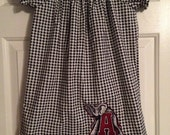 Houndstooth Dress   Alabama Dress   Peasant Dress   Short sleeve Dress   Houndstooth Peasant Dress   Toddlers Dress  