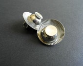 Atomic Vintage 50s 60s Clip On Earrings Silver Mod Atomic Age