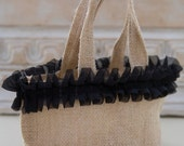 Burlap Gift Bags / Bridesmaids Gift Bags / Flower Girl Bag