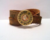 Shot gun Bullet, Shotgun Bullet, Cowgirl, Country Western Girl, Redneck Girl, Rustic, Country, Leather Wrap Cuff Bracelet Art