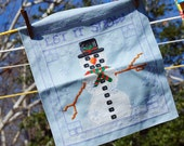 Let It Snow Snowman Counted Cross Stitch Pattern PDF File download