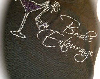 Bachelorette half lace tanks . Bridal Party Shirts . Bridesmaid Shirts . Bride's Entourage Purple Martini Lace Tank Tops . pink, white, blue