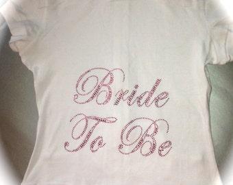 Cotton Short Sleeve Bride To Be Hoodie. Bride Pink Rhinestone hoodie. Blue rhinestone hoodie. Bride Short Sleeve Zip up. Bride to be gift.