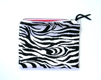zebra print clutch purse, black white, animal print. foldover clutch, spring summer fashion, makeup bag, cosmetic bag, mother's day gift