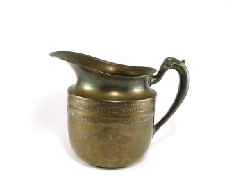 Decorative vintage brass pitcher