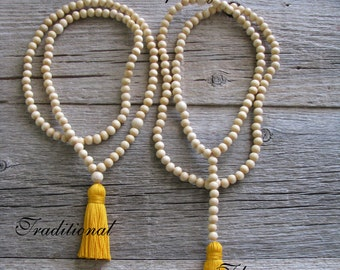 Mala Meditation Beads, Spiritual Jewelry, 108 bead Meditation Mala, Worry Beads,Yoga Jewelry, Tassel Mala