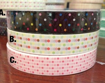 Deco tape stickers - Colorful Dots Polka dots DT491