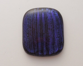 Dichroic Fused Glass Cabochon - Gem Stone - Cabochon Cab - Bead Supply- Glass Bead - Wire Wrapping - Jewelry Making - Stained Glass 2341