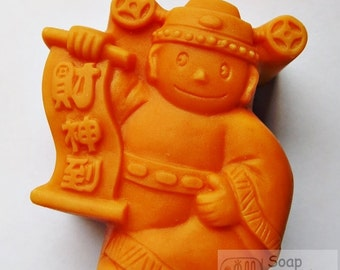 The traditional Chinese God of fortune Silicone Soap Mold ( Soap Republic )