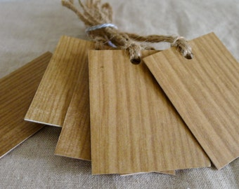 wood is good gift tags - set of eight - gift giving - gift wrap - woodgrain paper - recycled