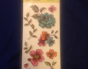 Spotted Canary/Studio 112 --  Textured Flower Pillow stickers -- NEW -- self adhesive dimensional stickers  (#510)