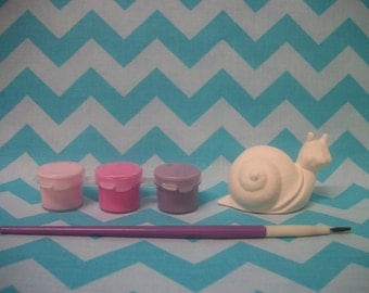 DIY Craft Kit Paint Your Own Snail Birthday Party Activity, Birthday Party Favors, Sleepover Activity, Gifts Under 10