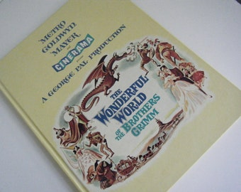1962 The Wonderful World of the Brothers Grimm Book about the movie by MGM Metro Goldwyn Mayer and Cinerama Barbara Eden Walter Slezak