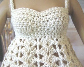 """Crochet Pattern For Tonner 16"""" Fashion Dolls 2 Tops for Tyler Sydney and similar by FatCatDesigns"""