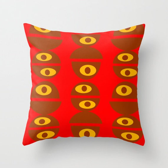 Mid Century Throw Pillow : Mod Throw Pillow Mid Century Modern Pillow Decorative