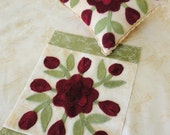 February, A Antique Quilt Square and Pincushion