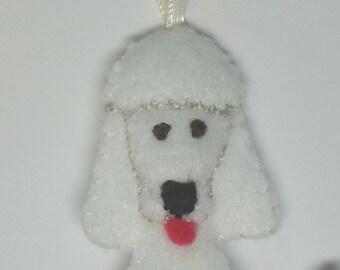 "3 and 1/4"" Felt Dog Ornament"