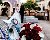 custom hand painted wedding shoes