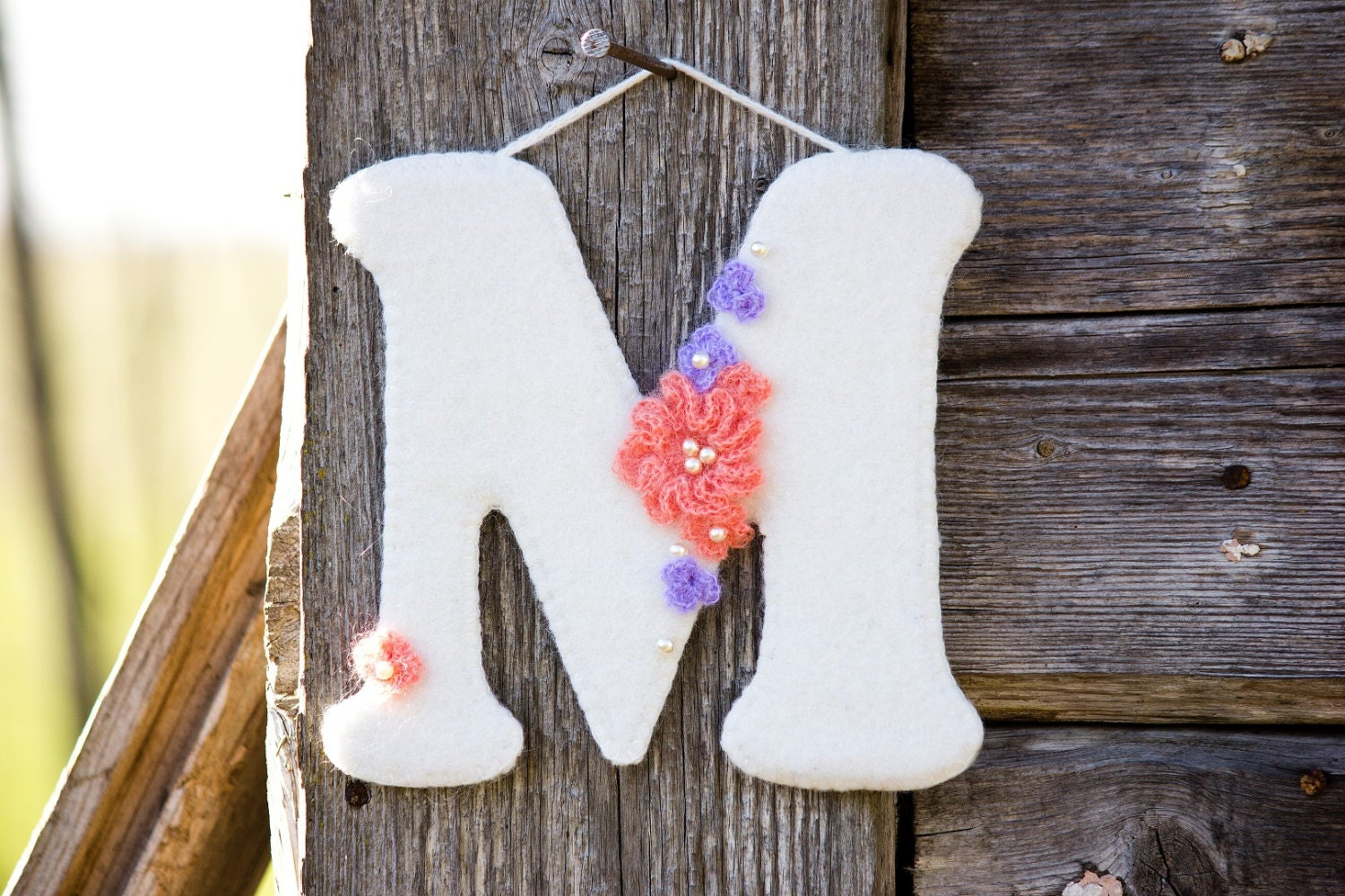 Wall letter m home decor nursery decor baby by eleditadesigns for Letter m home decor