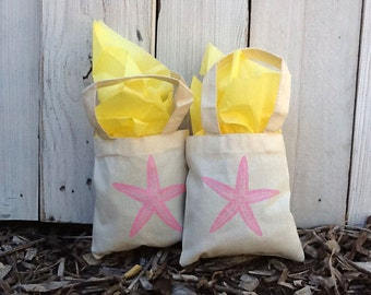 "50 Custom 6""x6"" Mini Tote Party Favor Grab Bags - Eco-Friendly Natural Cotton Canvas"