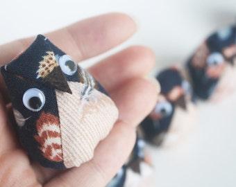 5 Mini Plush Owls - Baby shower/ Owl party Favors