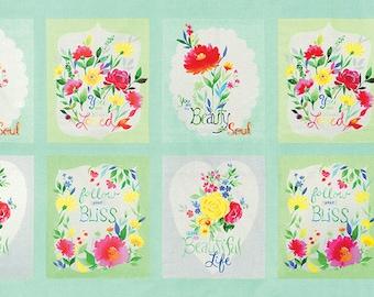 Fleurologie - Fleur Panel in Whisper by Stephanie Ryan for Moda Fabrics