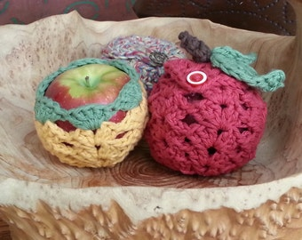 Fruit Jacket Cozy PDF Crochet Pattern in 3 Styles Apple Jacket Case Eco Friendly INSTANT DELIVERY