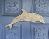 Dolphin, upcycled, made of recycled wood, porpoise