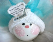 Memorial Ornament Angel Color Choice Blue Pink Red Christmas Townsend Custom Gifts Personalized Handmade Name Tag Sample - F