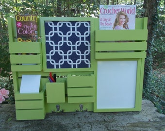 Message Center---Kitchen Decor--Mail Organizer--Magazine Holder