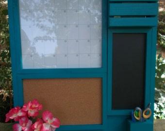 Kitchen organizer/ Magnetic Calendar/ Message Center /Mail Organizer/Kitchen Decor/Office Decor /Magazine Holder/Family Message Board
