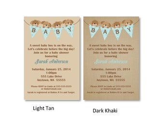 Puppy Bunting Baby Shower Invitation - You Print