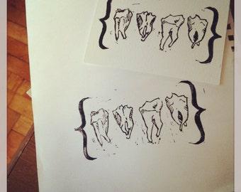 Share Your Wisdom With Me - Original Art - Hand Pressed Linoleum Cut