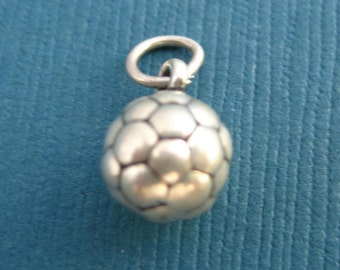Sterling Silver Soccer Ball  Pendant or Charm
