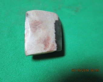 23.8 Ct Rare MN Thomsonite and Lintonite Pink Green White Beveled Cabachon Cab 22 x 12 x 8 mm