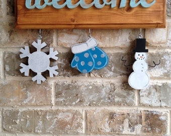 Winter Snow Days Ornaments for Welcome Sign