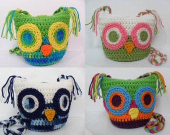 Owl Bag BASIC - Digital Download PDF Crochet Pattern - DIY Coin Purse Pouch