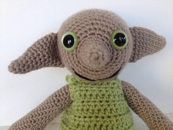 Dobby Harry Potter Amigurumi : Dobby Doll from Harry Potter Crochet Amigurumi by pigswife ...