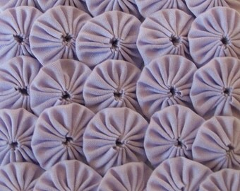 50 Pastel Lavender 1 inch Yo Yos Applique Quilt Pieces Scrapbooking Embellishments