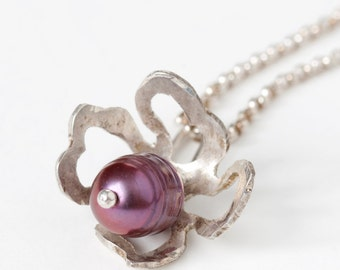 Pearl Fiori Charm Necklaces