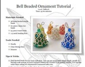 Bell Beaded Ornament Tutorial: PDF Download