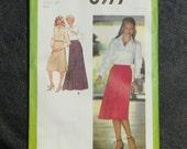 Vintage Pattern Simplicity 8977 Misses size 16 Bias-Cut skirt in Three Lengths 1979
