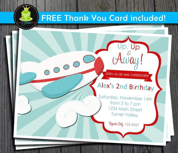 Items Similar To Airplane Birthday Invitation: Items Similar To Airplane Birthday Invitation / Airplane